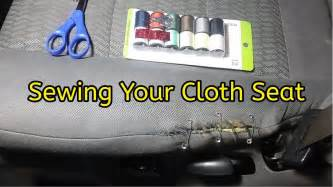 Auto Seat Upholstery Repair by Cloth Seat Repair Sewing Your Car Seat Upholstery