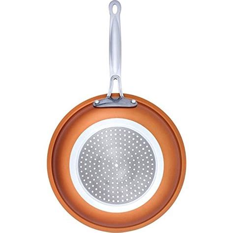 copper  skillet frying pan ceramic  stick fast  heating  induction