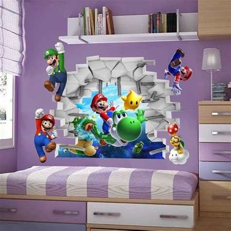 super mario bros bedding full canada mario bros 3d view wall stickers decals mural home decor wall stickers in
