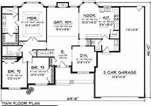 Ranch Style House Plan 73301 with 1928 Sq Ft , 3 Bed , 1 ...