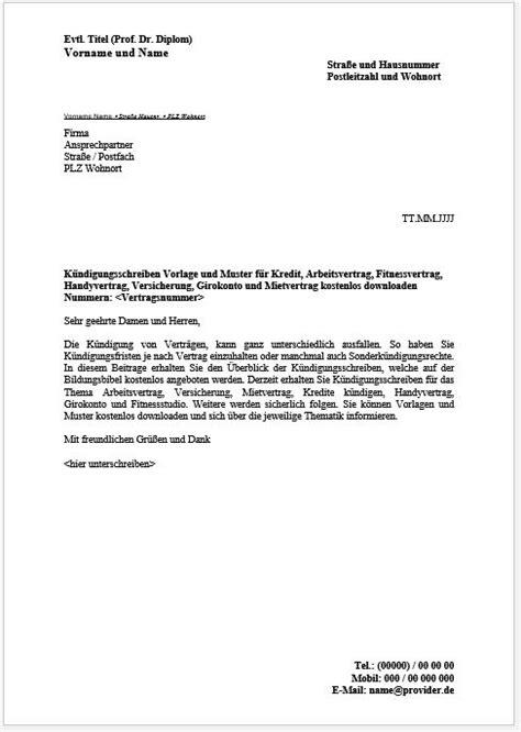 kündigung einer mietwohnung k 252 ndigungsschreiben vorlage muster beispiel kostenlos downloaden