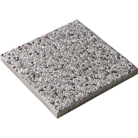 mattoni in cemento per giardino pavimento per esterno con sassi di fiume a vista grigio 40