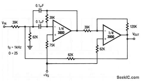 Khz Bandpass Filter With High Basic Circuit