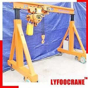 China Manual Gantry Crane 500kg  1000kg  2t  3t  5t  10t