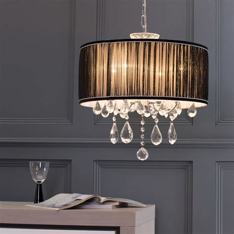 chandelier l shade l amour 4 light chandelier in pleated shade black from