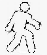 Yeti Coloring Drawing Lone Netclipart sketch template