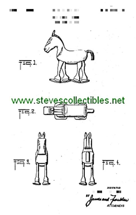 patent art  marx horse ramp walker toy marx toys