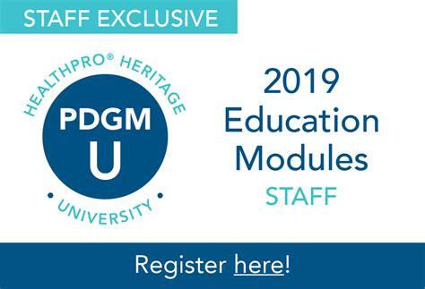 pdgm healthpro heritage staff education
