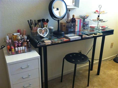 makeup storage ikea diy vanity crafty deco