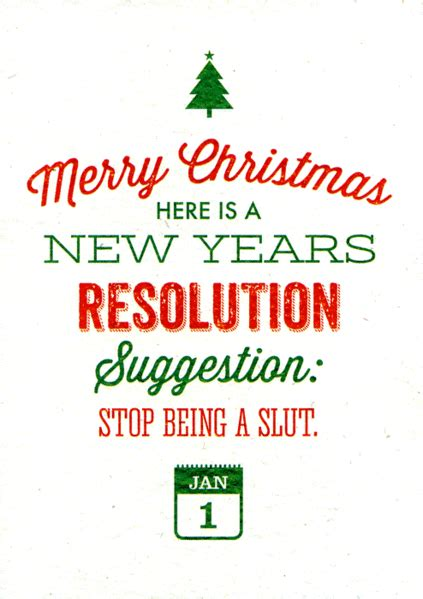 funny rude christmas card brainbox candy new years resolution comedy card company
