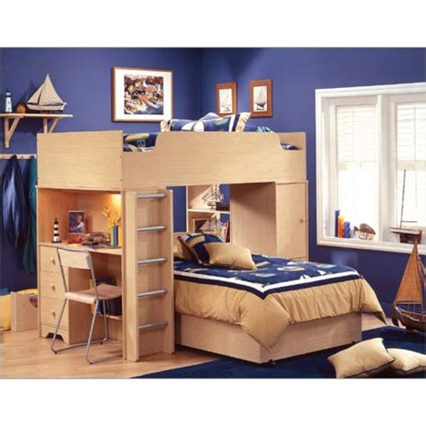 childrens bunk beds with desk loft bed with desk casual cottage