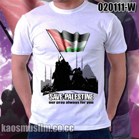 kaos distro quot save palestine quot bahan 100 cotton combed