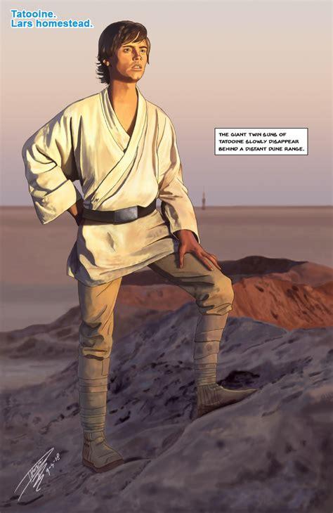 ArtStation - Luke Skywalker Binary Sunset comic page ...