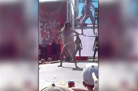 Bikini Babe Face Plants On Stage During Twerking Contest Daily Star
