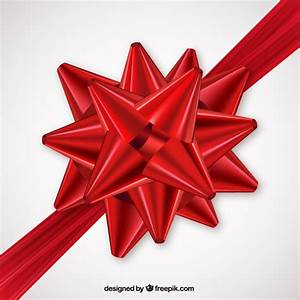 Red bow for gift Vector | Free Download