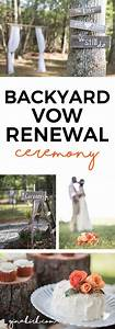celebrating 10 years our backyard vow renewal vintage With renewing wedding vows ideas
