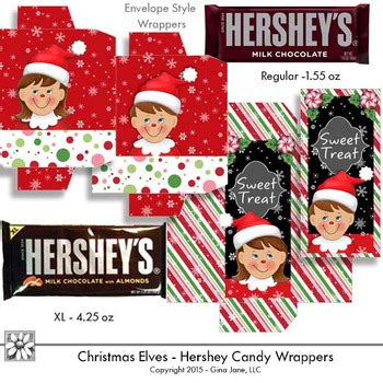 Just when you thought it couldn't get any better, we've created two sizes! Elf Christmas Candy Bar Wrappers Printables by Gina Jane Clip Art