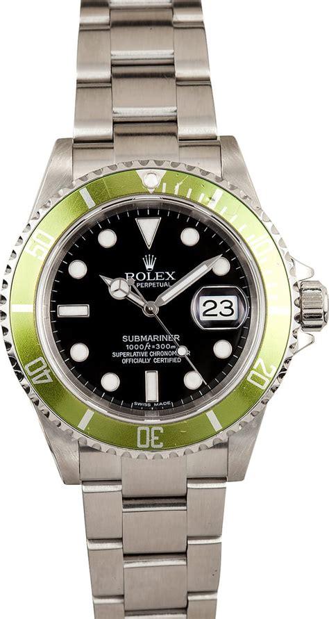 Rolex Submariner Faded Green Anniversary 16610