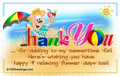 Summer Thank Fun Summertime Ecard Cards Card