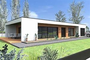 constructeur maison contemporaine plain pied modele With surface d une maison 7 maison bois plain pied type loft nos maisons ossatures