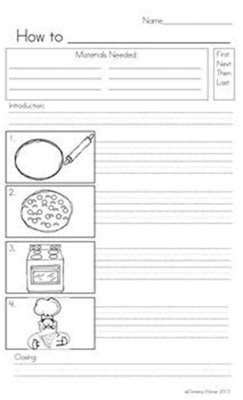 procedural writing template 7 best images about procedural writing ideas on teaching a well and mothers