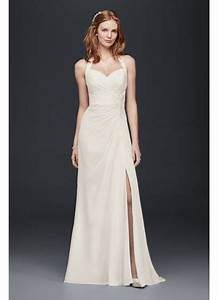 halter sheath wedding dress david39s bridal With halter sheath wedding dress