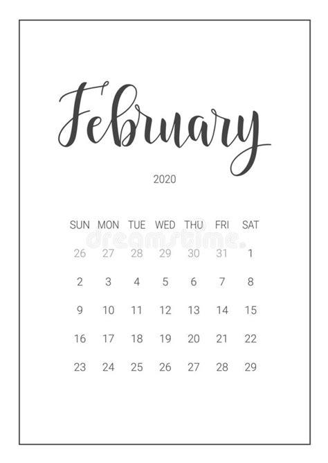 vector calendar planner  february  handwritten