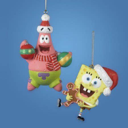 spongebob squarepants christmas ornaments 3 quot nickelodeon spongebob squarepants ornament walmart
