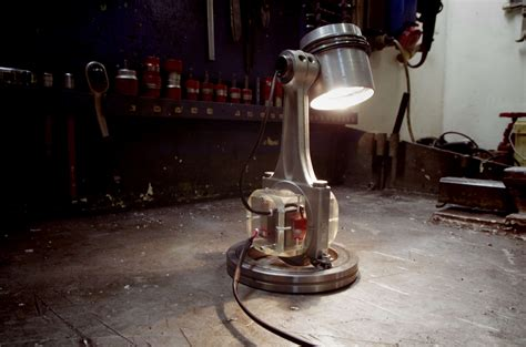 recycled engine parts  desk lamp recyclart