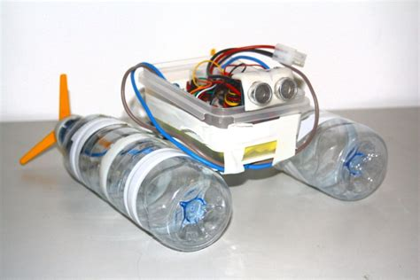 How To Make Small Motor Boat At Home by Build A Robot Boat Using Water Bottles Robot Boating