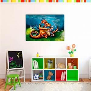 Tableau Chambre Enfant : tableau dragon et chevalier decodeo ~ Teatrodelosmanantiales.com Idées de Décoration