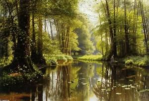 Arte M Gallery : vandlob i skoven 1 oil by peder mork monsted 1859 1941 denmark ~ Indierocktalk.com Haus und Dekorationen
