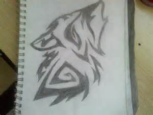 Wolf Howling Pencil Drawings