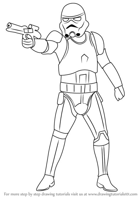 step  step   draw stormtrooper  star wars