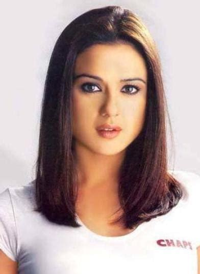 Preity Zinta Simple Medium Hairstyle