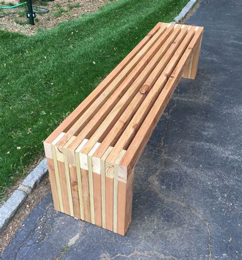 bench  scraps wood slat backyard tutorials