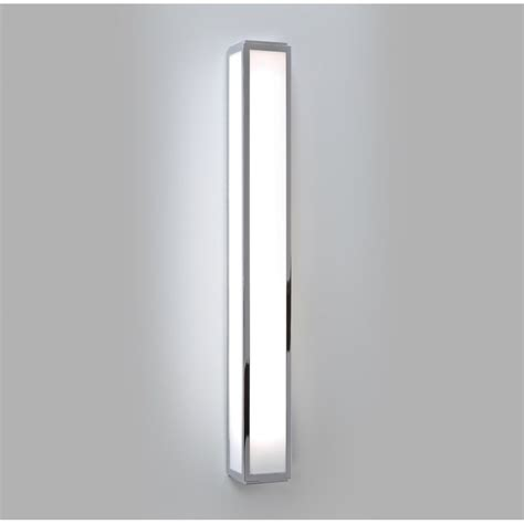 long rectangular tube shaped bathroom wall light in