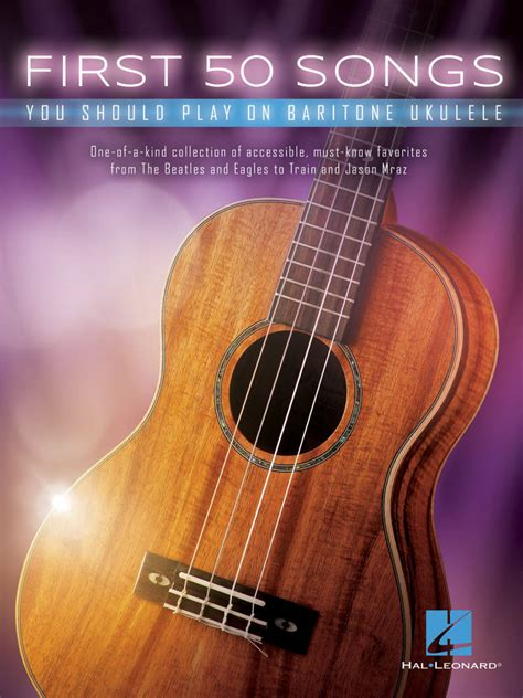 Jazz standard ukulele solo music book 2 with cd from japan. Hal Leonard First 50 Songs You Should Play On Baritone Ukulele - Book