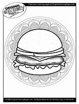 Coloring Cheeseburger Cheeseburgers Quiz sketch template