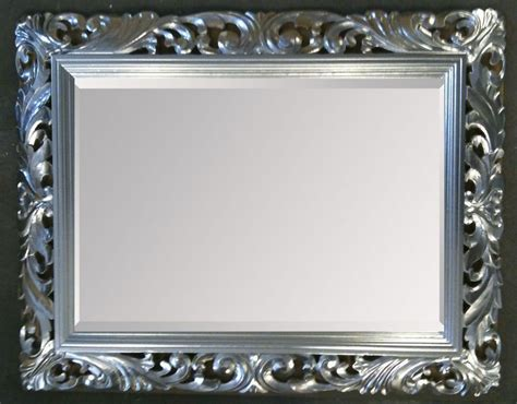 lg french carved decorative bevelled mirror
