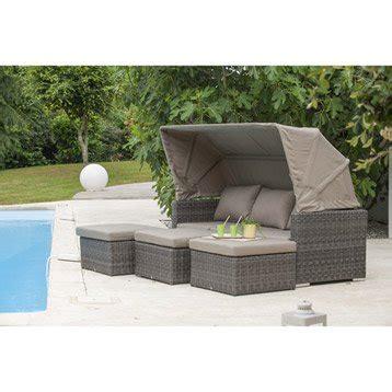 canapé de jardin en résine tressée salon bas de jardin canapé fauteuil bas salon de