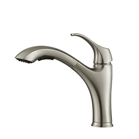 kraus kpf 2250 single lever pull out kitchen faucet stainless steel new ebay