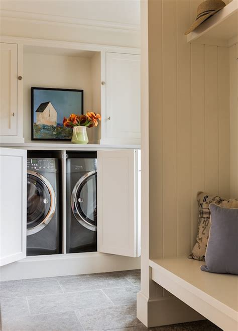 floating laundry bench design ideas