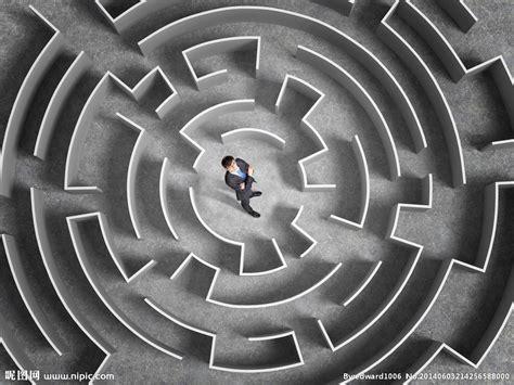 商业迷宫游戏设计图__商业插画_商务金融_设计图库_昵图网nipic.com