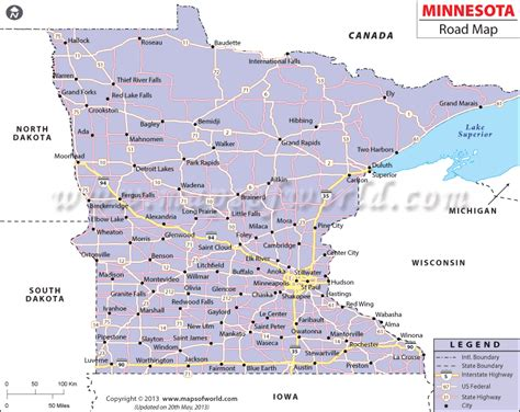 mn road map minnesota road map http mapsofworld com