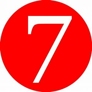Red Roundedwith Number 7 Clip Art At Vector