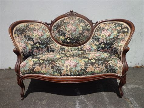 vintage antique sofa loveseat settee