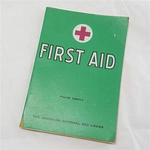 Vintage American Red Cross First Aid Manual