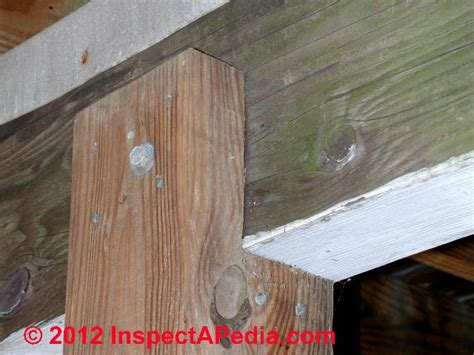 checking or notching deck posts joist hangers post beam framing connectors guide to