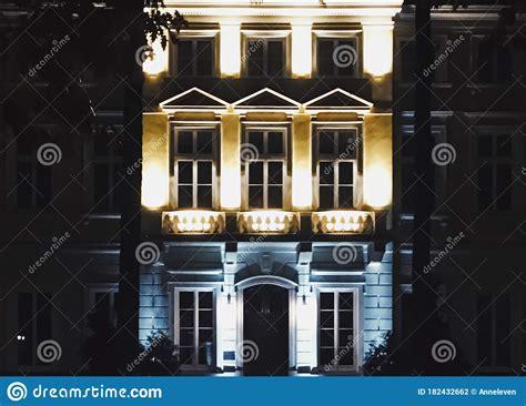 Exterior Facade Of Classic Building In The European City